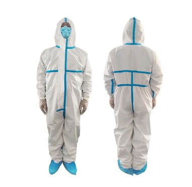 medical-coverall-Isolation-Clothing-Disposable-Protective-suit LANGQI
