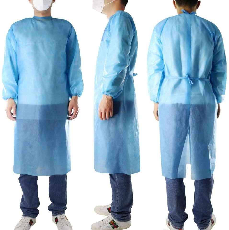 Disposable Isolation Gowns blue